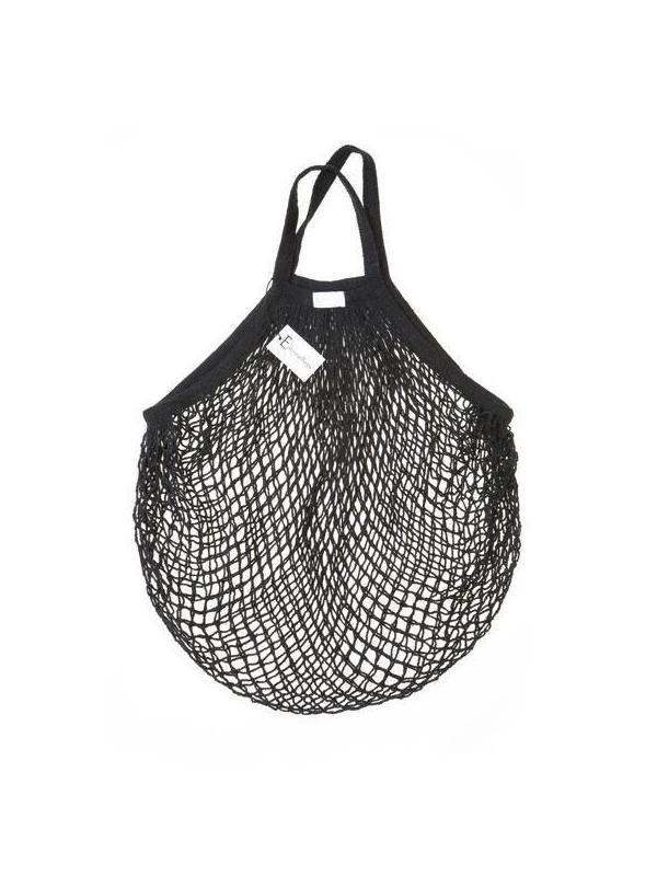Black String Bag (Short Handle)