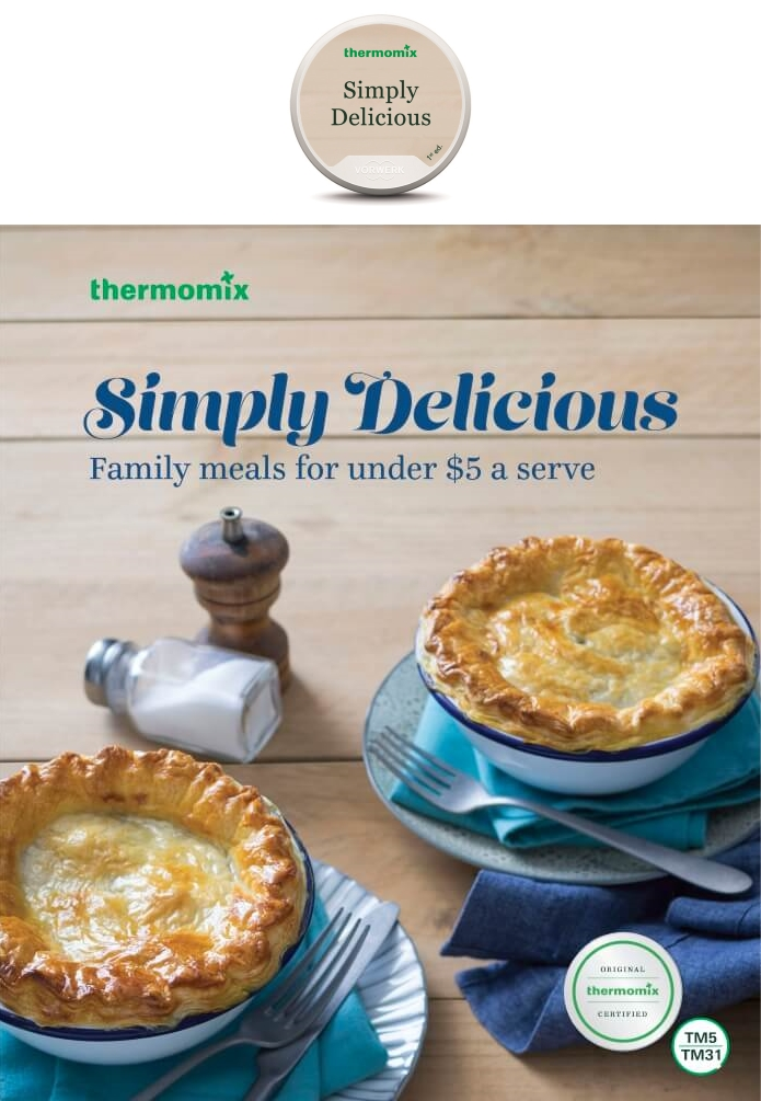 Simply Delicious Cookbook and Recipe Chip Pack